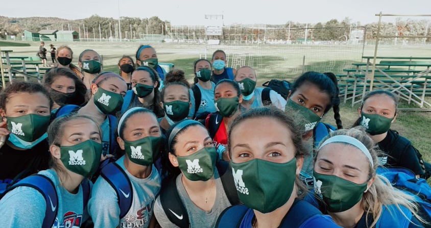 Among other rules, athletes had to play with masks this fall.