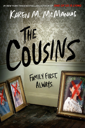 This is the cover of Karen McManuss latest thriller, the cousins.