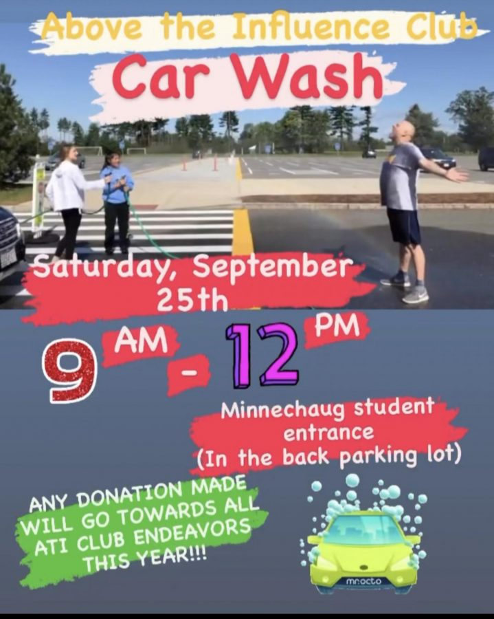 The Above the Influence Club will also hold a car wash fundraiser from 9 to 12 p.m. on Saturday, Sept. 25.